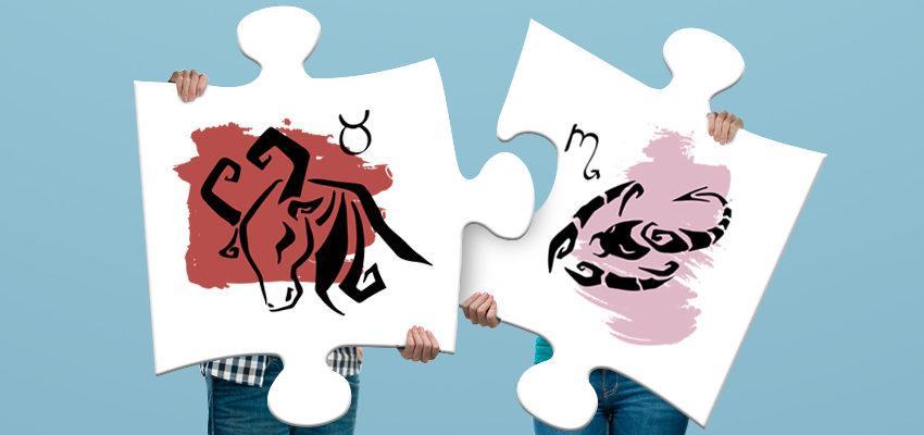 La compatibilité amoureuse entre femme Taureau et homme Scorpion