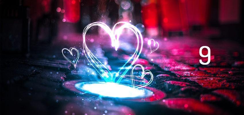 Numérologie de l'amour et le chiffre 9