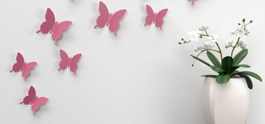 La décoration de papillons en Feng Shui