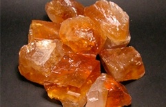 pierre de protection calcite dorée