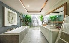 centre de la maison Feng Shui : toilette