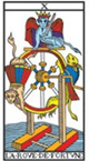 association entre les cartes du tarot VII à XII