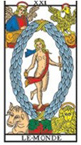 association entre les cartes du tarot XIV à XXI