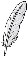 symboles de la paix - plume blanche