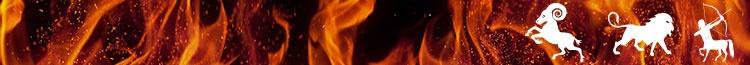 Signes astrologiques de feu